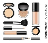 face cosmetics vector realistic ... | Shutterstock .eps vector #777916042