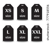 set of size sticker icons ... | Shutterstock .eps vector #777918556