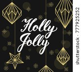 geometric christmas decorations ... | Shutterstock .eps vector #777925252