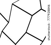 black and white irregular grid  ... | Shutterstock .eps vector #777928846