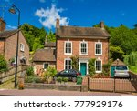 typical red brick house on the... | Shutterstock . vector #777929176