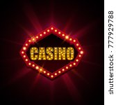 casino banner with light effect ... | Shutterstock .eps vector #777929788