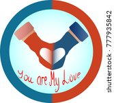 the concept of love and... | Shutterstock .eps vector #777935842