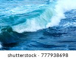 Strong Sea Wave And Blue Water...