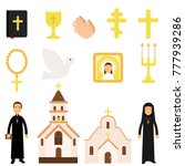 collection of religious symbols ... | Shutterstock .eps vector #777939286