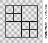 vector frames photo collage for ... | Shutterstock .eps vector #777950458