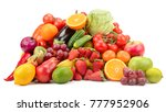 variety of healthy fresh fruits ...   Shutterstock . vector #777952906