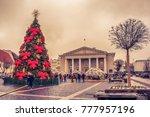 vilnius  lithuania   17... | Shutterstock . vector #777957196