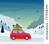 winter skiing holiday trip to... | Shutterstock .eps vector #777958192