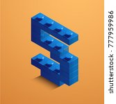 blue number five from lego... | Shutterstock .eps vector #777959986