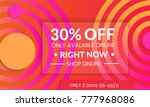 abstract geometric background... | Shutterstock .eps vector #777968086