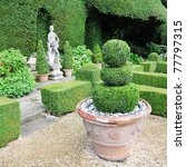 Topiary In A Formal Garden