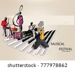 series of musical backgrounds...   Shutterstock .eps vector #777978862