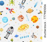 space seamless pattern... | Shutterstock .eps vector #777985006