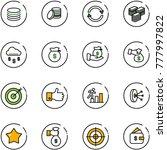 line vector icon set   coin...