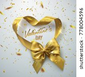 valentines day festive sign.... | Shutterstock .eps vector #778004596