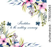 greeting card template with... | Shutterstock . vector #778010065