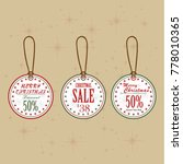christmas balls sale. special... | Shutterstock .eps vector #778010365