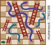 ,board game,cartoon,children,game,illustration,karma,ladders,luck,snakes,trophy,vector