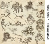 an hand drawn collection.... | Shutterstock . vector #778014088