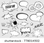 comic speech bubbles set ... | Shutterstock . vector #778014502