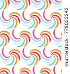 abstract geometric seamless... | Shutterstock .eps vector #778022242