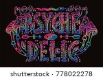 detailed ornamental psychedelic ... | Shutterstock .eps vector #778022278