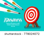 target and flying arrows....   Shutterstock .eps vector #778024072
