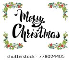 greeting merry christmas card ... | Shutterstock .eps vector #778024405