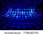 abstract blue tunnel of squares ... | Shutterstock .eps vector #778030792