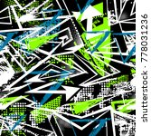 abstract seamless chaotic... | Shutterstock .eps vector #778031236