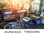 industrial workshop or hangar... | Shutterstock . vector #778031446