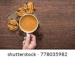 morning coffee cup with... | Shutterstock . vector #778035982