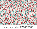 christmas wrapping paper  ... | Shutterstock .eps vector #778039006