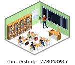 isometric 3d vector... | Shutterstock .eps vector #778043935