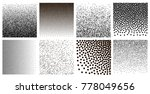 set of halftone dots. black... | Shutterstock .eps vector #778049656