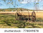 Old Rusty Farm Plow With...