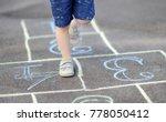 closeup of little boy's legs... | Shutterstock . vector #778050412