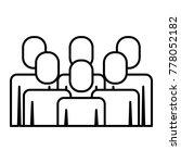 portrait business people... | Shutterstock .eps vector #778052182