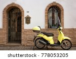 modern city scooter parked in... | Shutterstock . vector #778053205
