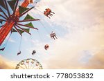 people riding rides and...   Shutterstock . vector #778053832