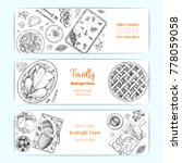 family dinner banner set ... | Shutterstock .eps vector #778059058