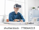 professional architect working... | Shutterstock . vector #778064215
