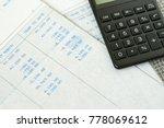 financial office salary tax... | Shutterstock . vector #778069612