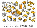 drawing doodle isometric... | Shutterstock .eps vector #778071142