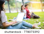 college student girl making... | Shutterstock . vector #778073392