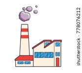 factory building with dark... | Shutterstock .eps vector #778076212
