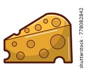 delicious cheese isolated icon   Shutterstock .eps vector #778082842