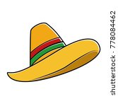 mexican hat isolated icon | Shutterstock .eps vector #778084462
