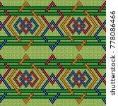 knitted ornate geometric... | Shutterstock .eps vector #778086466